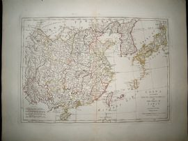 China & Japan: 1794 Antique Map. Samuel Dunn, Laurie & Whittle